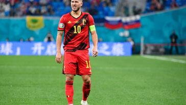 Eden Hazard a tenu à dédier la victoire belge à Eriksen (iconsport)