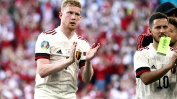 Kevin De Bruyne n'a pas voulu célébrer son but face au Danemark (iconsport)