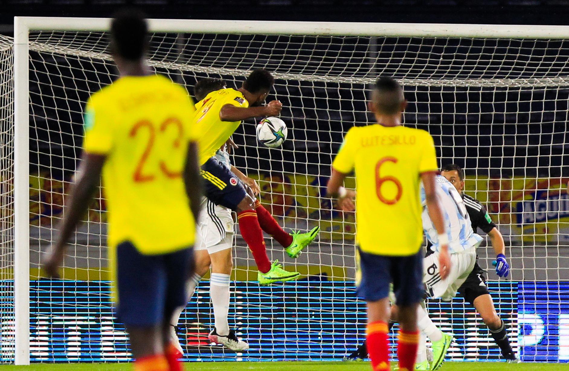 Miguel Borja a privé l'Argentine des trois points grâce à un but en toute fin de match - Icon Sport
