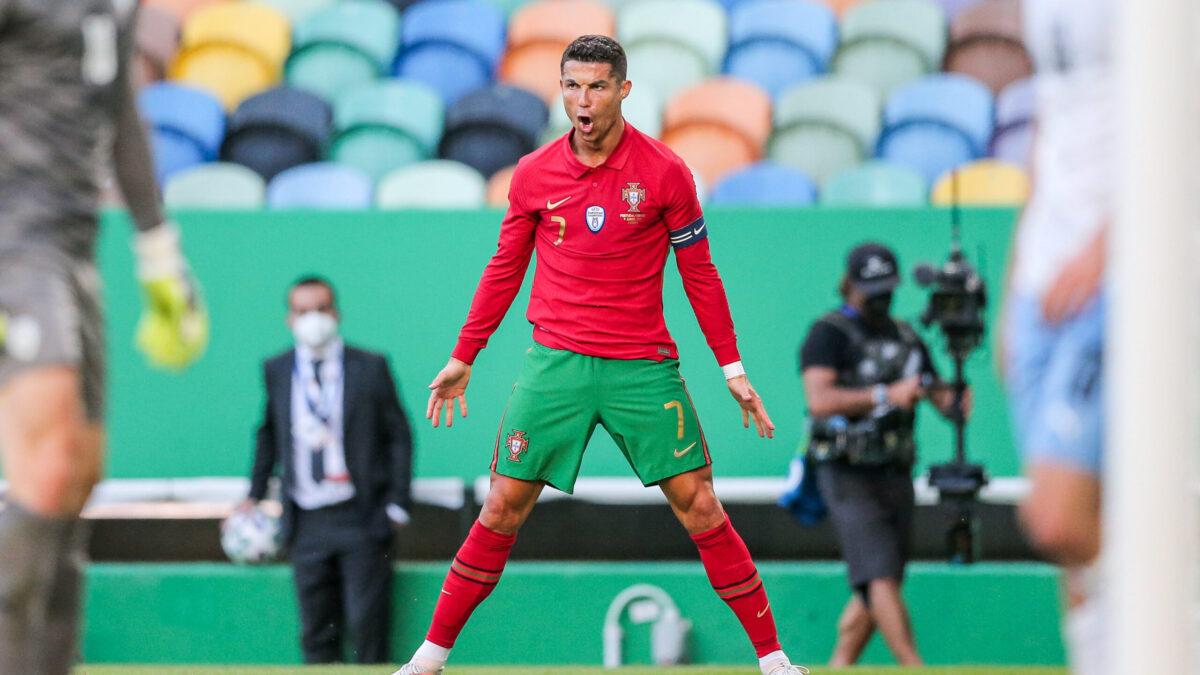 Cristiano Ronaldo célèbre son but contre Israël à Lisbonne (iconsport)