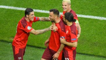 Haris Seferovic ont battu la Turquie (3-1) mais ne sont pas encore qualifiés pour les huitièmes de finale de l'Euro 2020. Icon Sport