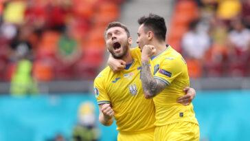 L'Ukraine a résisté au retour de la Macédoine du Nord (2-1), ce jeudi 17 juin, et engrange sa première victoire à l'Euro 2020. Icon Sport