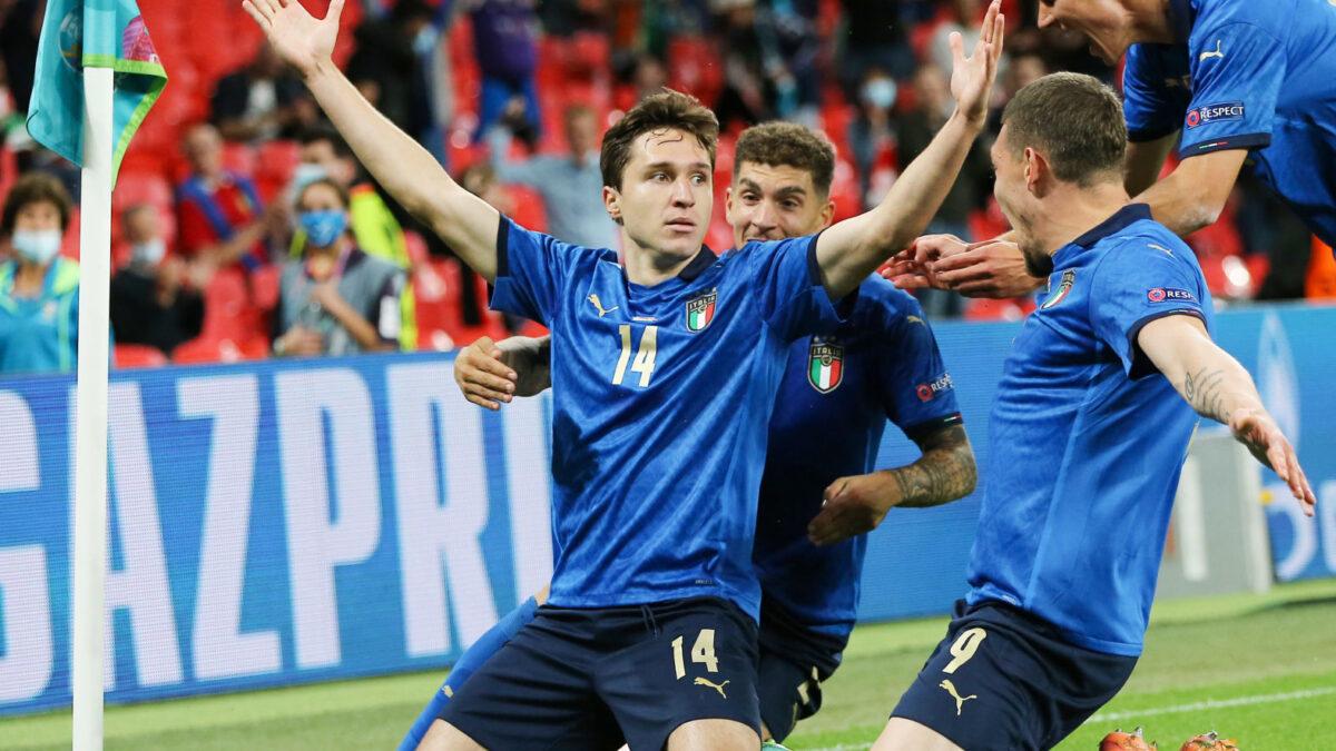 Federico Chiesa a libéré l'Italie en prolongation pour terrasser l'Autriche. Icon Sport