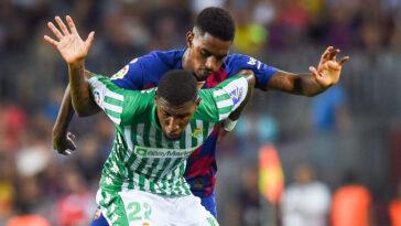 Emerson face au FC Barcelone