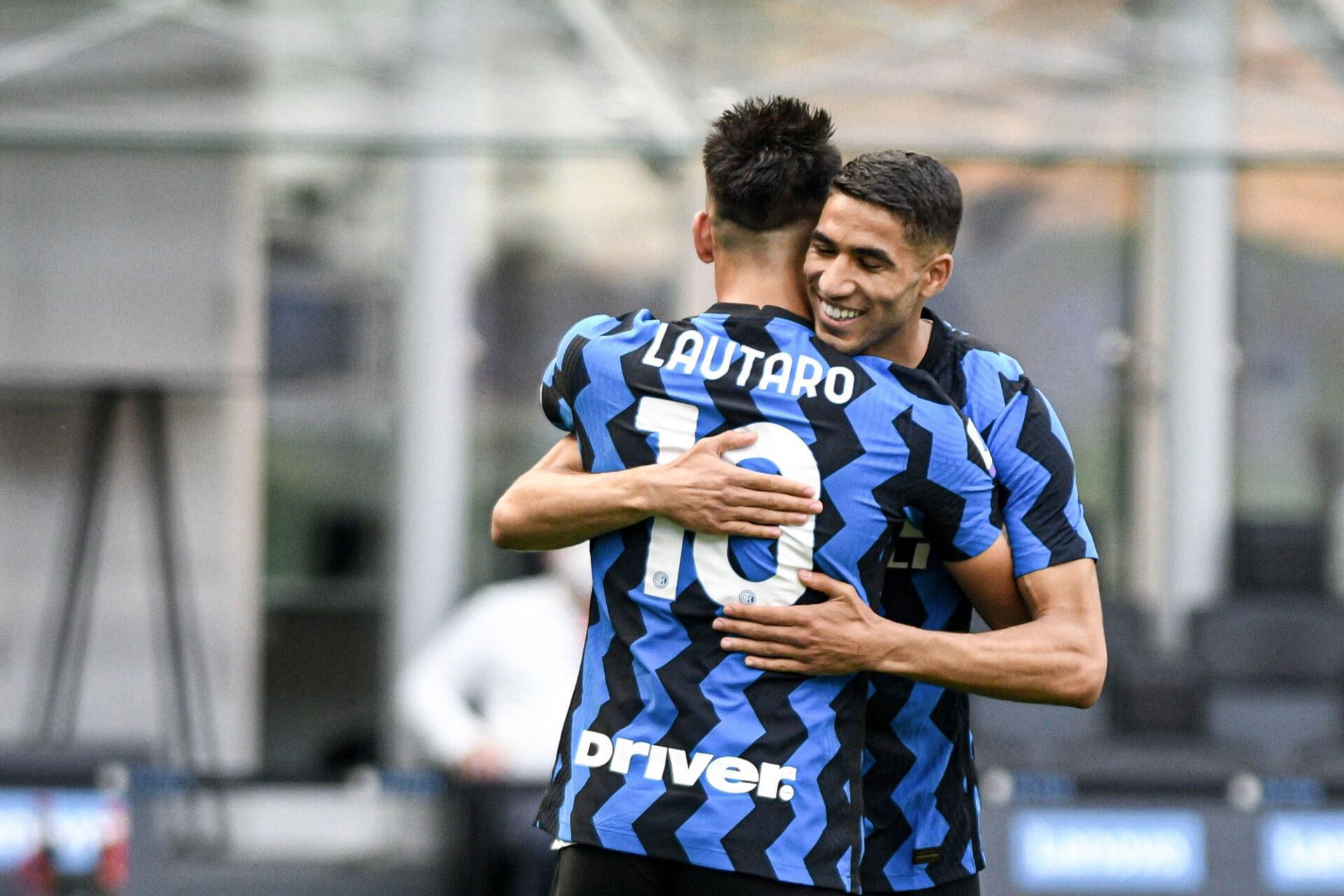 Achraf Hakimi et Lautaro Martinez pourraient tous les deux quitter l'Inter Milan cet été (iconsport)