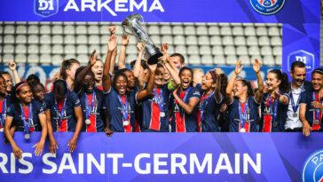 Le PSG a décroché son premier titre de champion de France en D1 féminine, vendredi 4 juin. Icon Sport