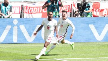 Raheem Sterling heureux de marquer à Wembley (iconsport)