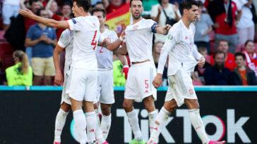 L'Espagne se qualifie pour les quarts de finale au terme d'un match spectaculaire. Icon Sport