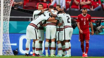 Le Portugal est venu à bout de la Hongrie en fin de match. Icon Sport
