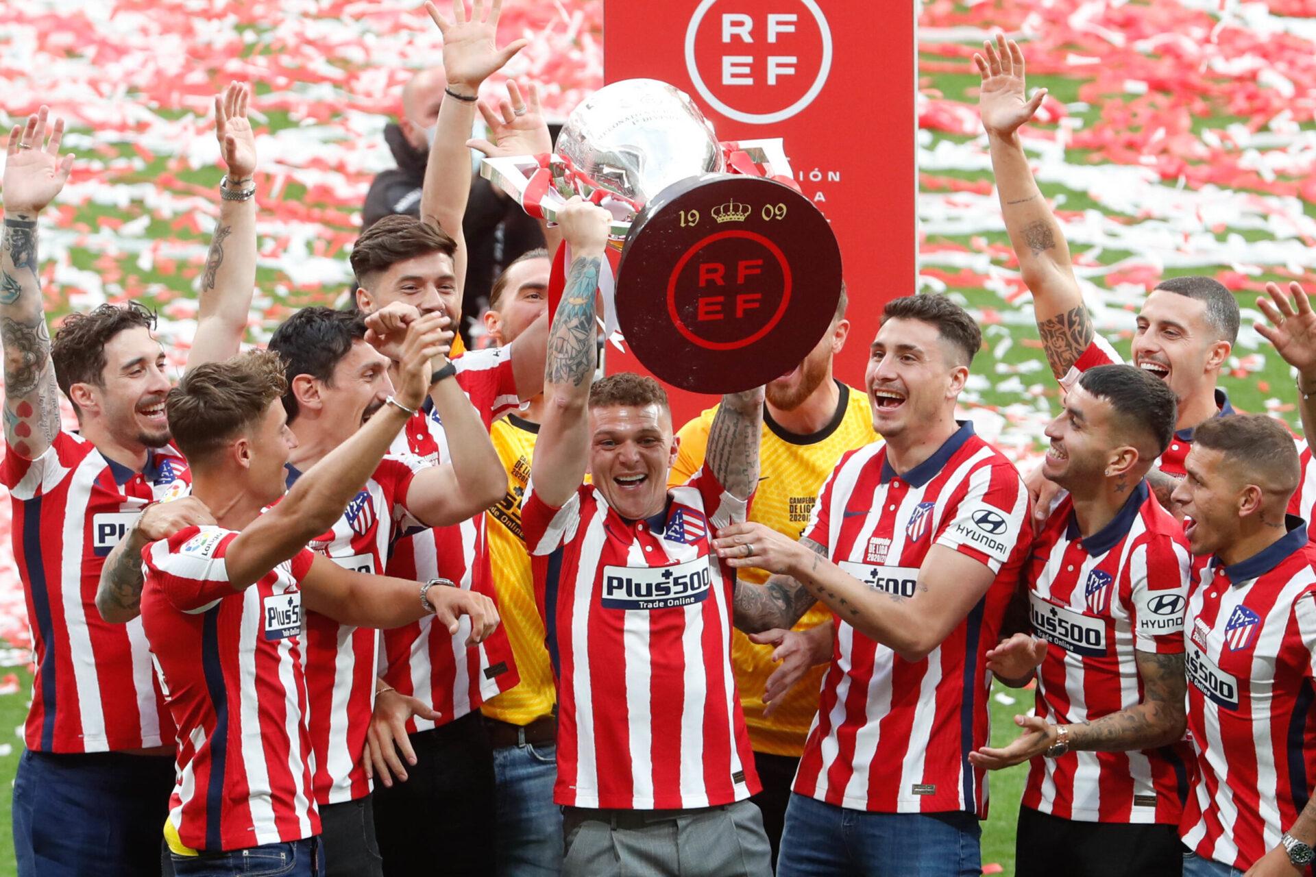 Kieran Trippier a remporté le championnat d'Espagne avec l'Atlético de Madrid cette année (iconsport)