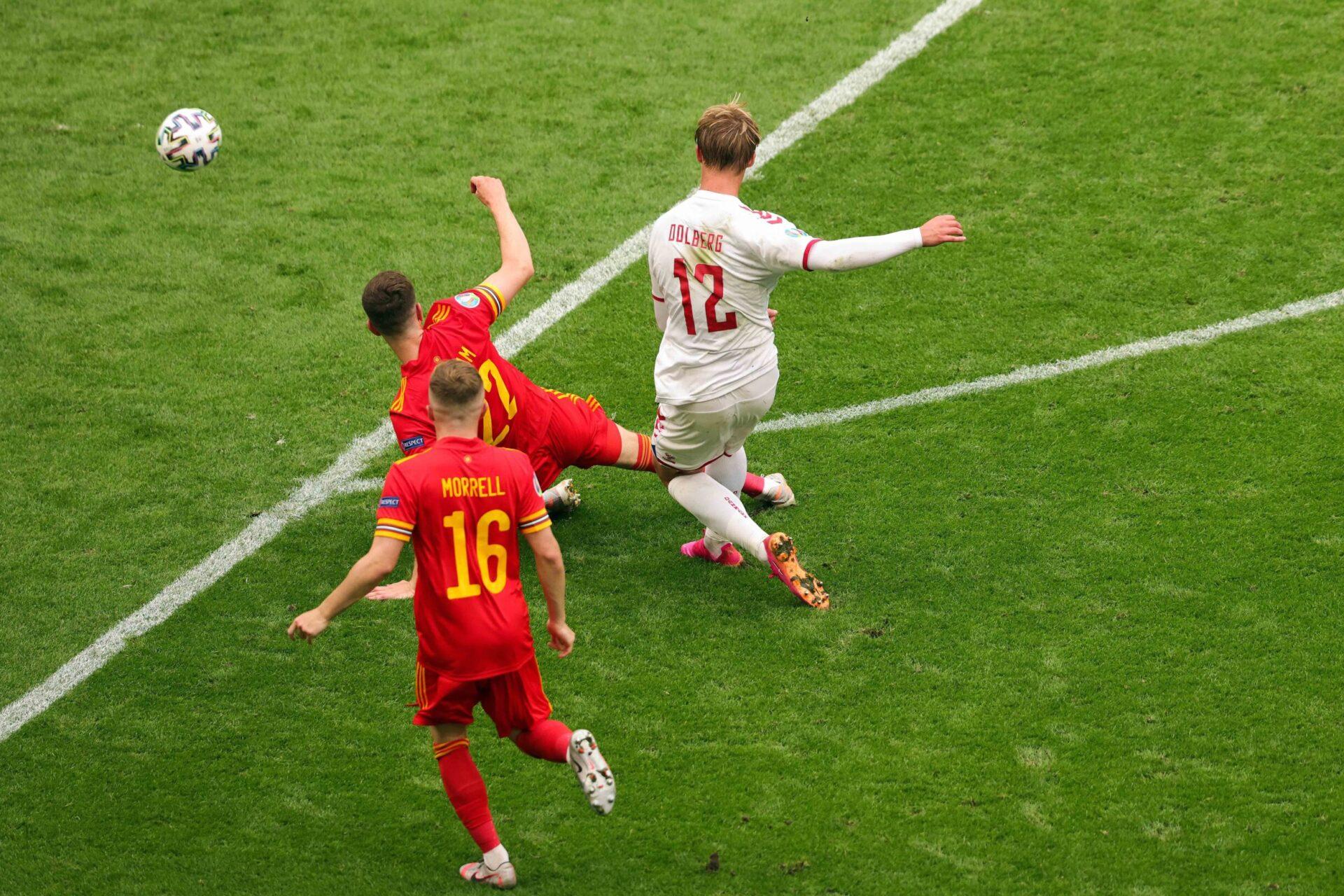 Kasper Dolberg et le Danemark joueront les quarts de finale de l'Euro 2020. Icon Sport