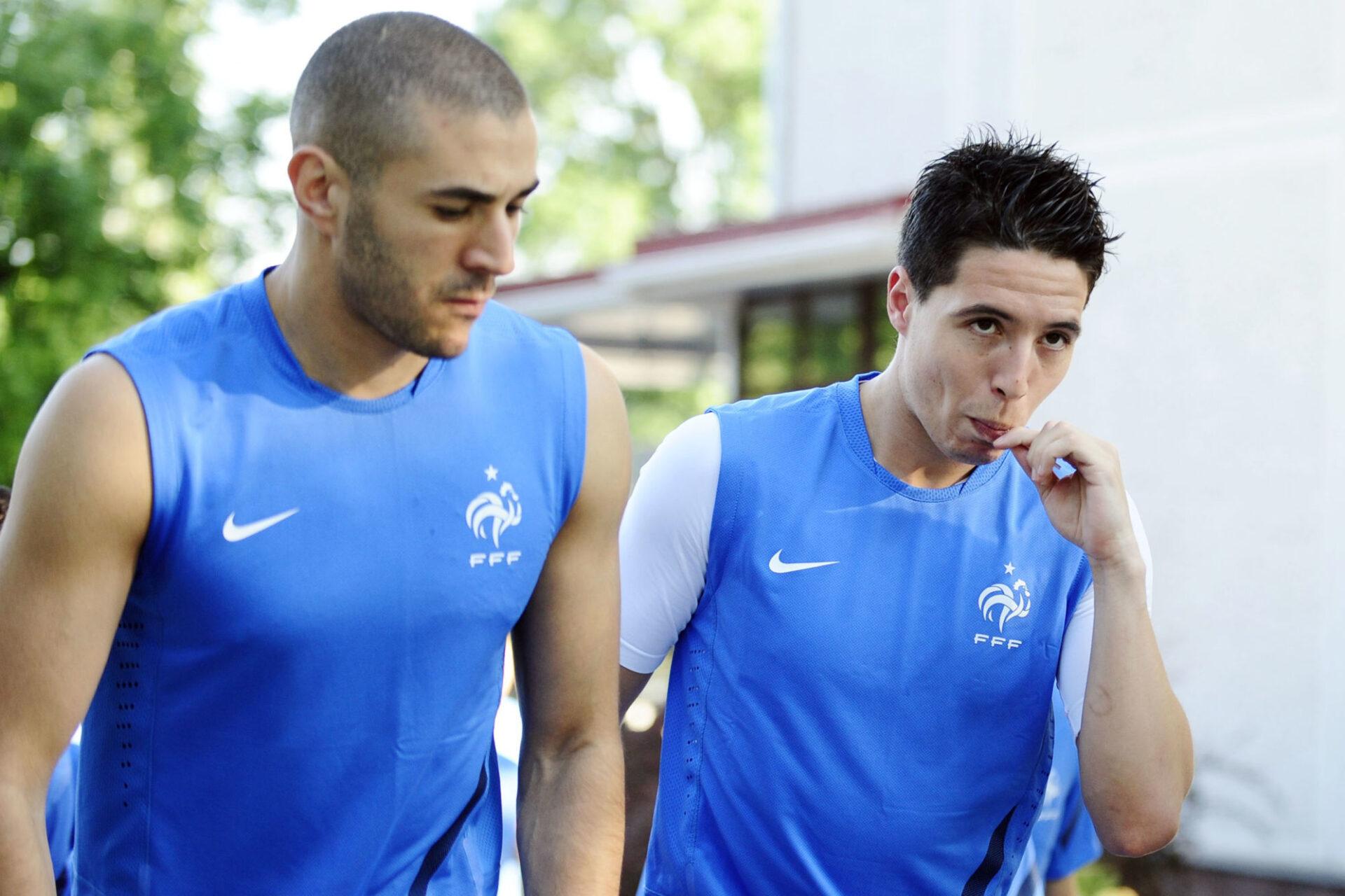 Karim Benzema et Samir Nasri en 2012 avec l'équipe de France. Icon Sport