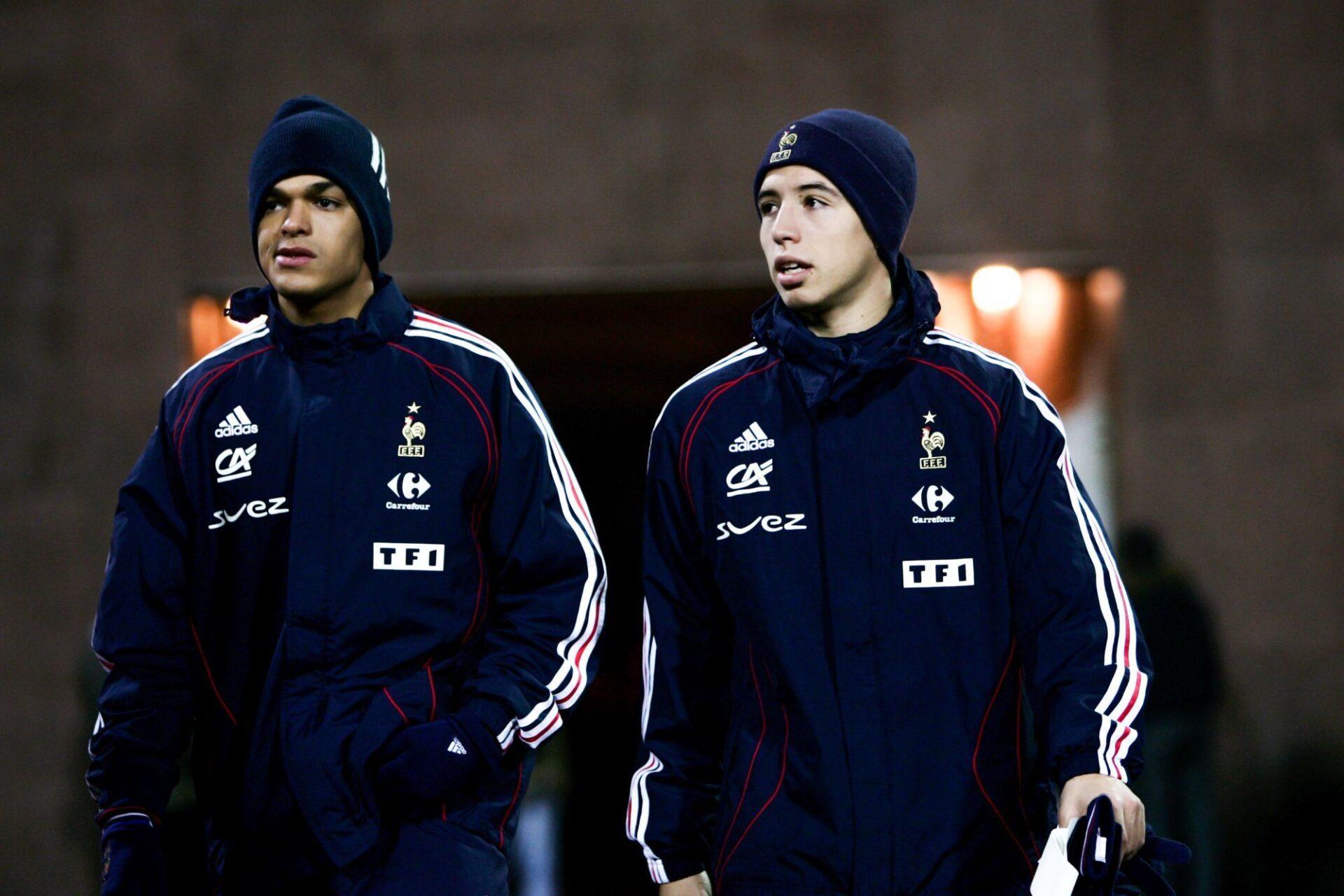 Hatem Ben Arfa et Samir Nasri en 2007, pour leurs débuts en équipe de France. Icon Sport