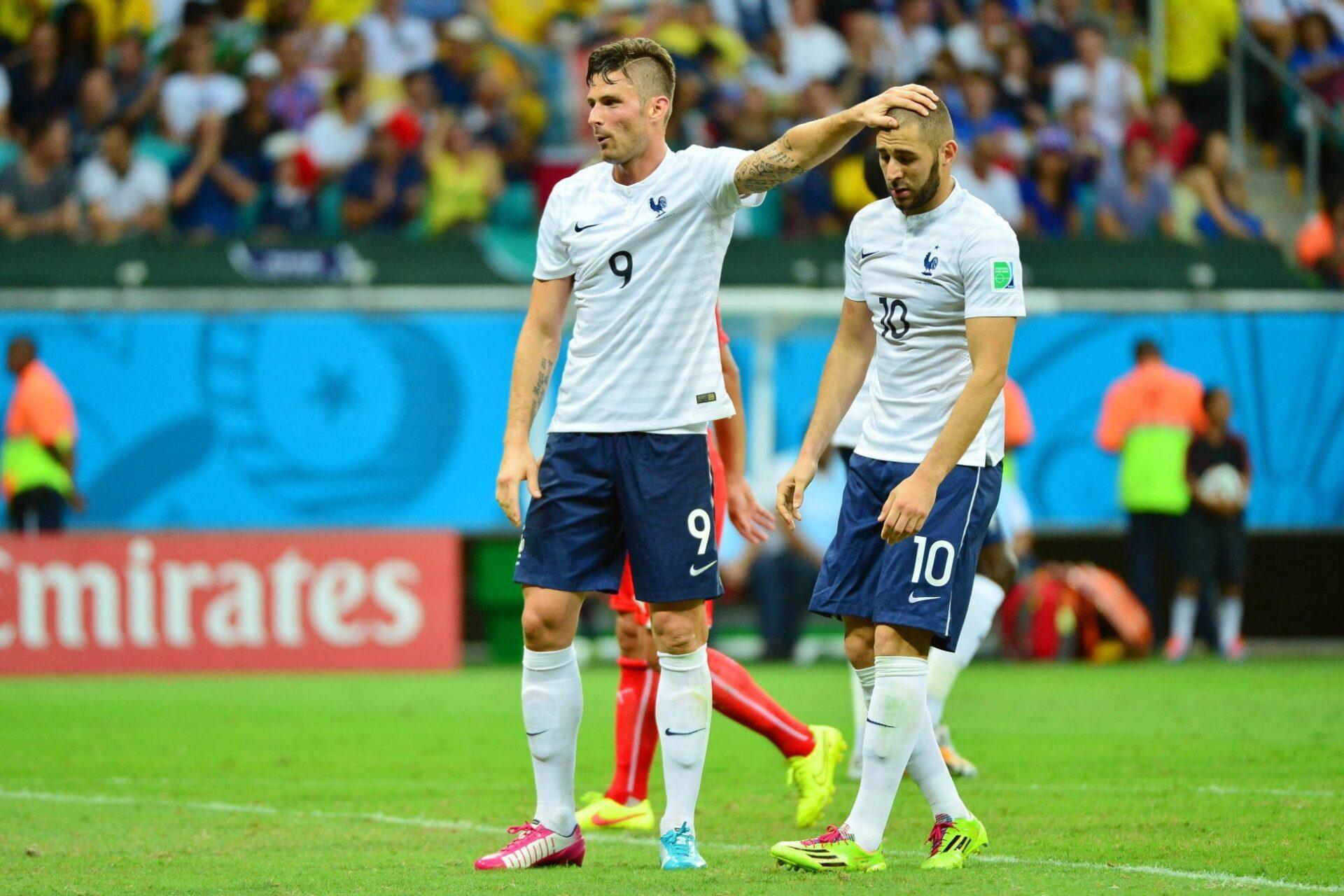 Olivier Giroud n'en veut pas à Karim Benzema @iconsport