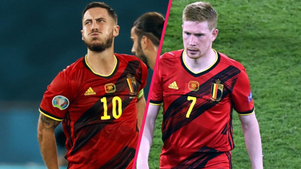 Sortis touchés contre le Portugal, Eden Hazard et Kevin De Bruyne doivent passer des examens pour connaître l'étendue de leur blessure. Leur participation au quart de finale contre l'Italie est compromis (iconsport)