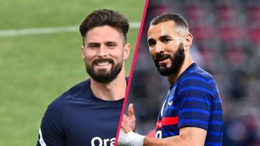 Entre Olivier Giroud et Karim Benzema, tout est pardonné. Icon Sport