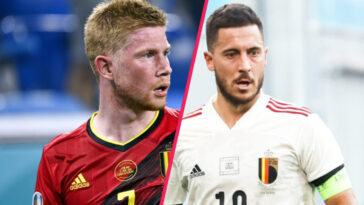 Touchés à la cheville et à l'ischio-jambier, Kevin De Bruyne et Eden Hazard manqueront le quart de finale de la Belgique contre l'Italie ce vendredi (iconsport)