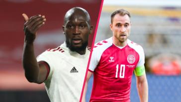 La Belgique de Romelu Lukaku et le Danemark de Christian Eriksen en découdront pour leur entrée en lice dans la compétition, samedi 12 juin. Icon SPort