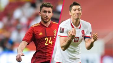 Aymeric Laporte aura fort à faire avec l'Espagne contre Robert Lewandowski et la Pologne. Icon Sport