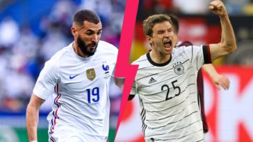 Karim Benzema mènera l'équipe de France contre l'Allemagne de Thomas Müller, ce mardi 15 juin à 21h. Icon Sport