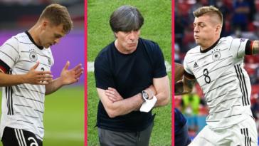 """Joshua Kimmich, Joachim Löw et Toni Kroos ont regretté que la défaite contre la France (0-1) se soit décidée sur un but """"malchanceux"""". Icon Sport"""