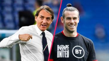 Roberto Mancini compare le jeu du pays de Galles à celui de Stoke, Gareth Bale s'en amuse. Icon Sport
