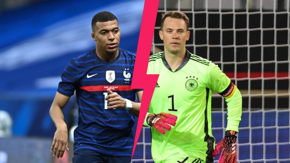 Mardi 15 juin,Kylian Mbappé devrait défier Neuer pour la 6ème fois de sa carrière. Un gardien qu'il connaît bien comme il l'a expliqué à Bild (Iconsport)