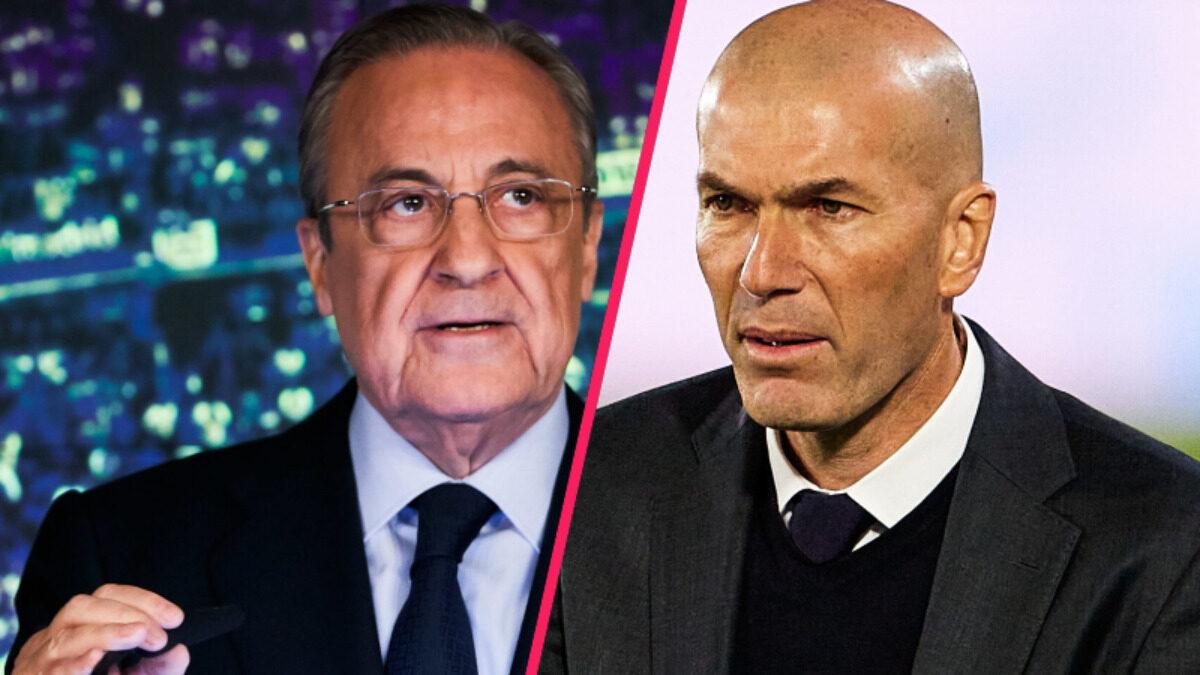 Florentino Perez s'est longuement exprimé sur le départ de Zinédine Zidane. Et le Président du Real l'assure, il n'en veut pas à son ancien entraîneur (iconsport)