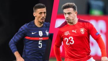 Clément Lenglet est titulaire au coeur de la défense à trois de la France contre la Suisse de Xherdan Shaqiri, ce lundi 28 juin en huitième de finale de l'Euro 2020. Icon Sport