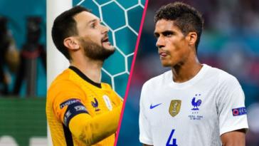 Hugo Lloris et Raphaël Varane ont réagi à chaud à la défaite de l'équipe de France face à la Suisse. Icon Sport