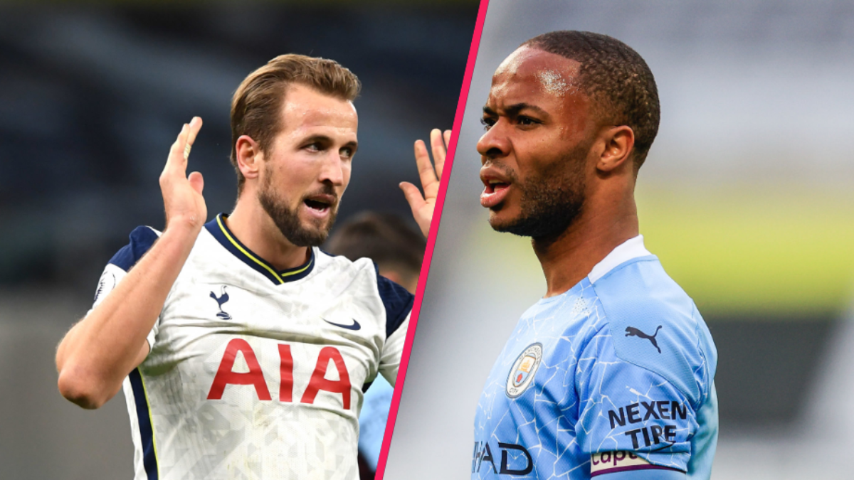 Pour arracher Harry Kane des mains de Tottenham, Manchester City songerait à proposer un échange avec Raheem Sterling et Gabriel Jesus. Icon Sport