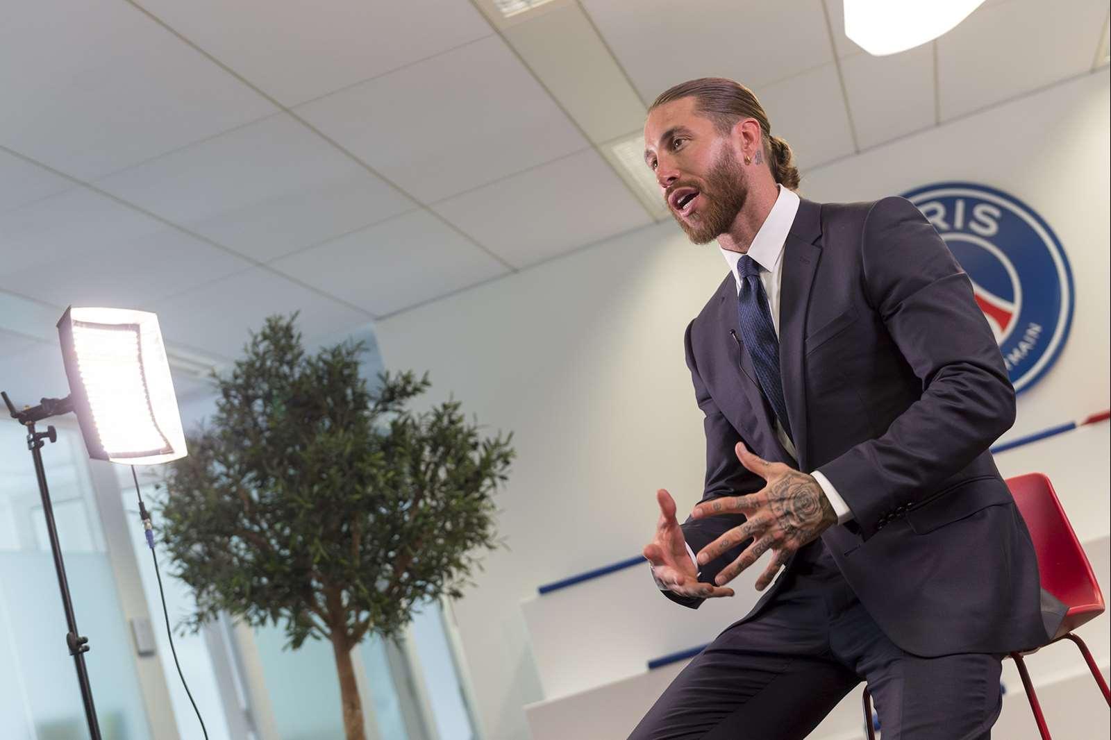 Sergio Ramos est heureux de rejoindre la capitale (PSG.FR)