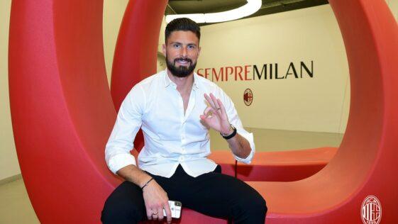 Olivier Giroud a donné sa première interview depuis son arrivée à l'AC Milan, samedi 17 juillet. Icon Sport