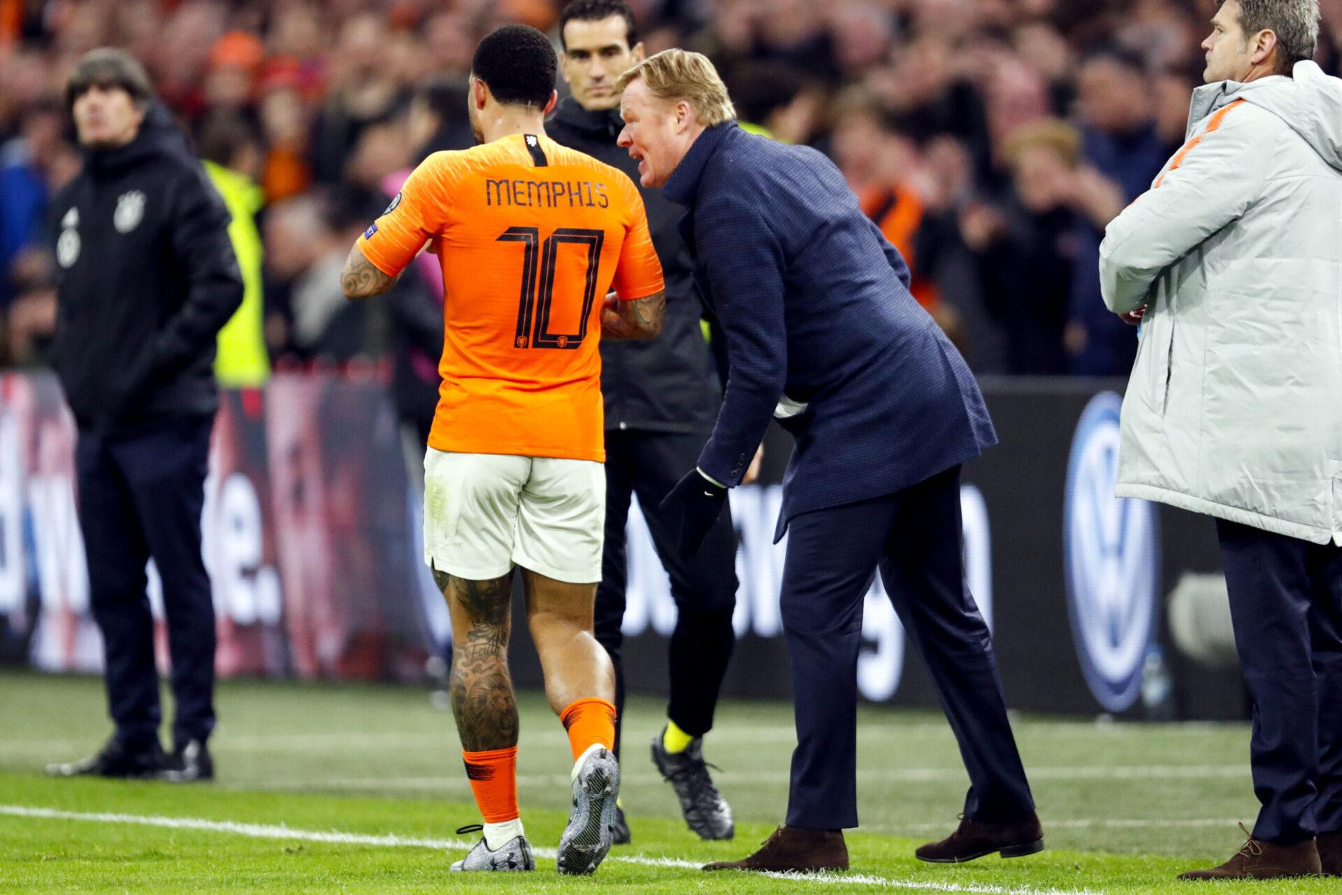Memphis Depay retrouvera son ancien coach en sélection des Pays-Bas, Ronald Koeman. Icon Sport