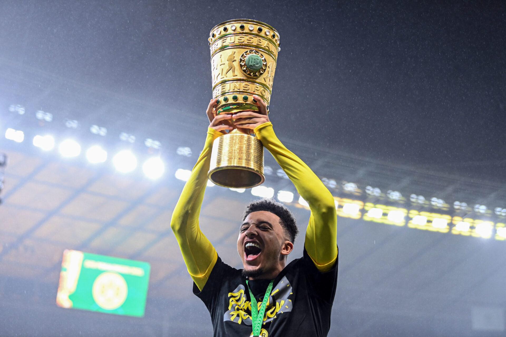 Sancho aura disputé 137 matchs avec le BvB et notamment remporté la Coupe d'Allemagne en 2021 (iconsport)