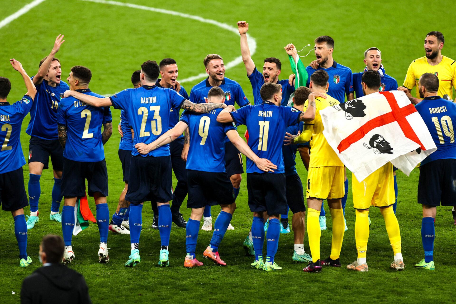 L'Italie, championne d'Europe après avoir battu l'Angleterre aux tirs au but. Icon Sport