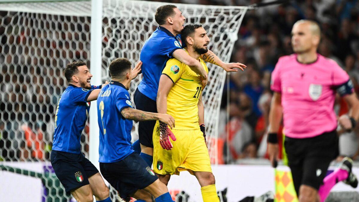 Gianluigi Donnarumma a donné la victoire à l'Italie aux tirs au but en finale de l'Euro. Icon Sport