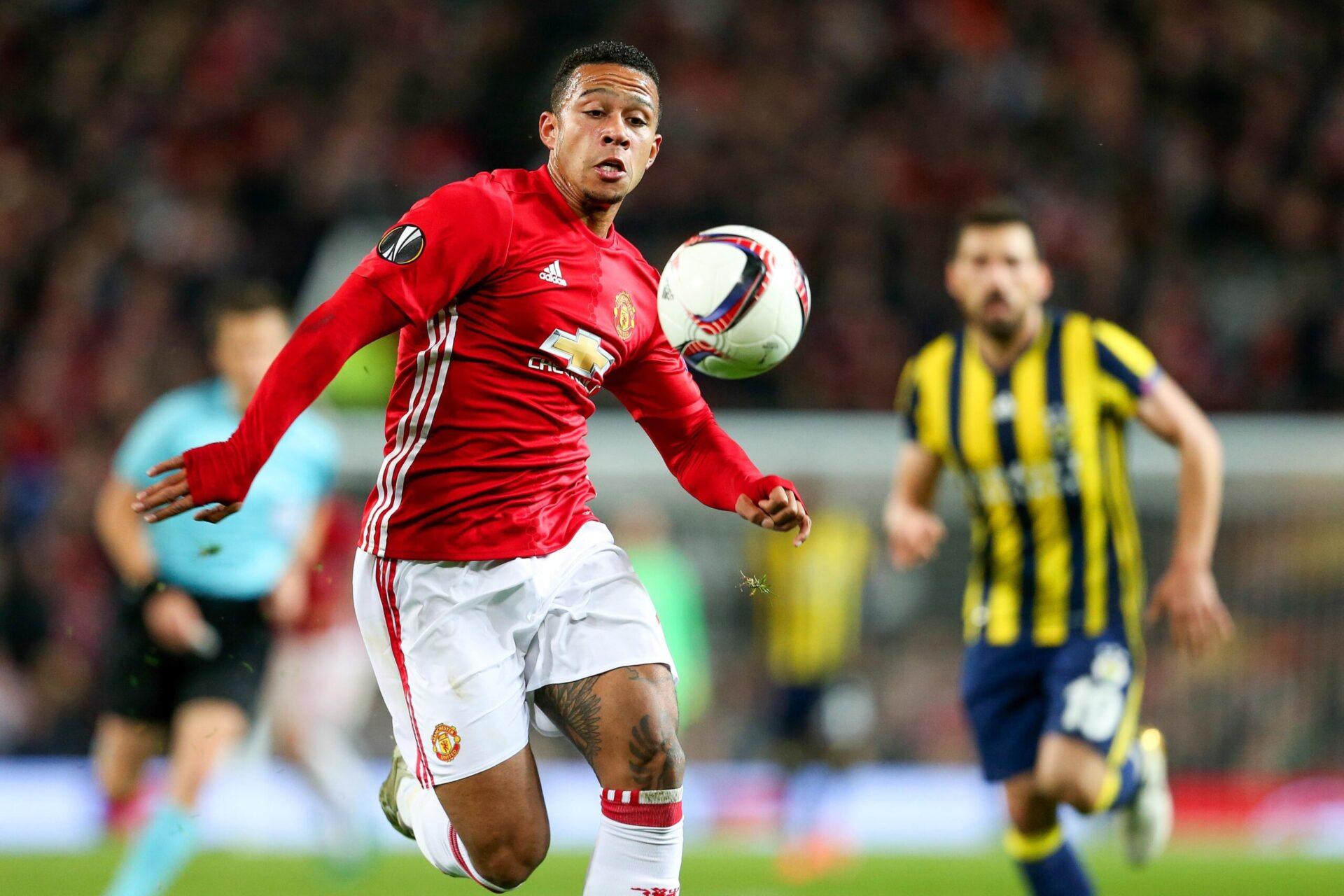 Memphis Depay portant les couleurs de Manchester United (Icon Sport)