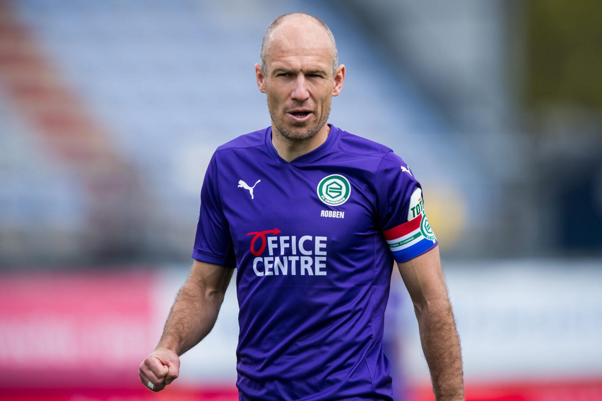 Sorti de sa retraite à l'été 2020 pour retrouver son club formateur du FC Grongingen, Arjen Robben a vécu un exercice difficile, marqué par une blessure au mollet (iconsport)
