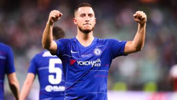 Eden Hazard célèbre son troisième but à l'Europa League (Icon Sport)