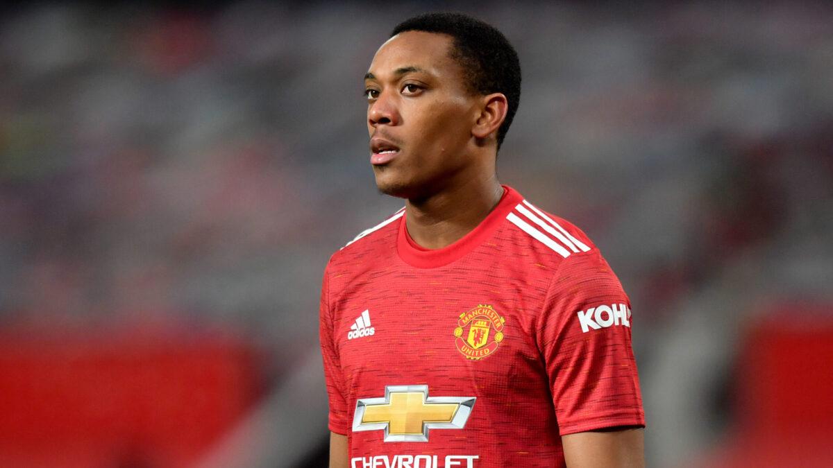 Anthony Martial pourrait être poussé vers la sortie. Manchester United aurait fixé son prix à 58 millions d'euros (iconsport)