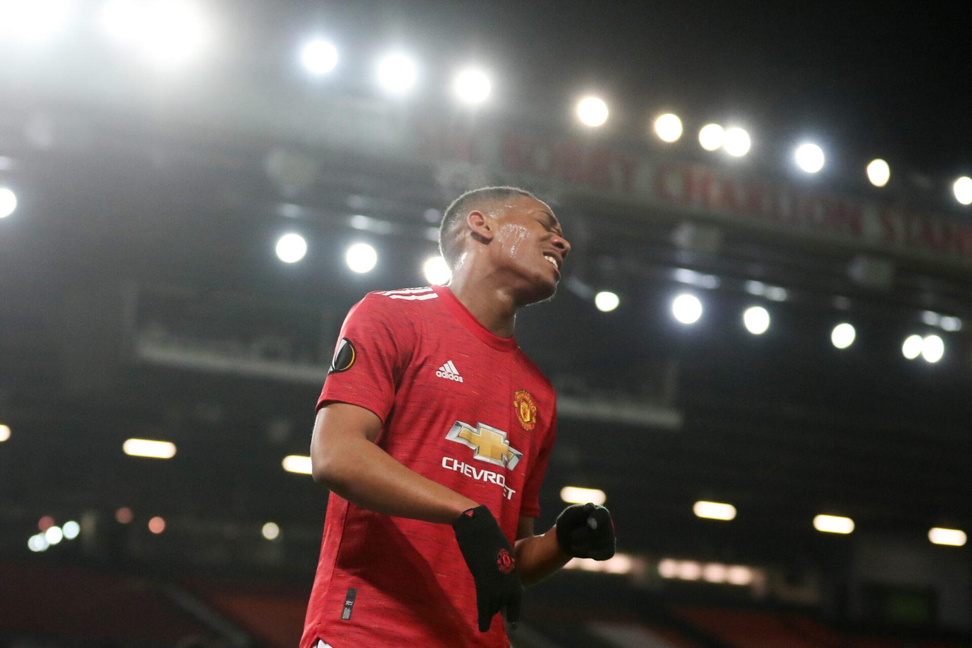 Anthony Martial pourrait être sacrifié par Manchester United. Icon Sport