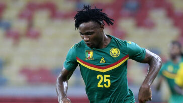Blondon Meyepya, jeune international camerounais (une sélection), a signé pour quatre saisons à Angers. Icon Sport