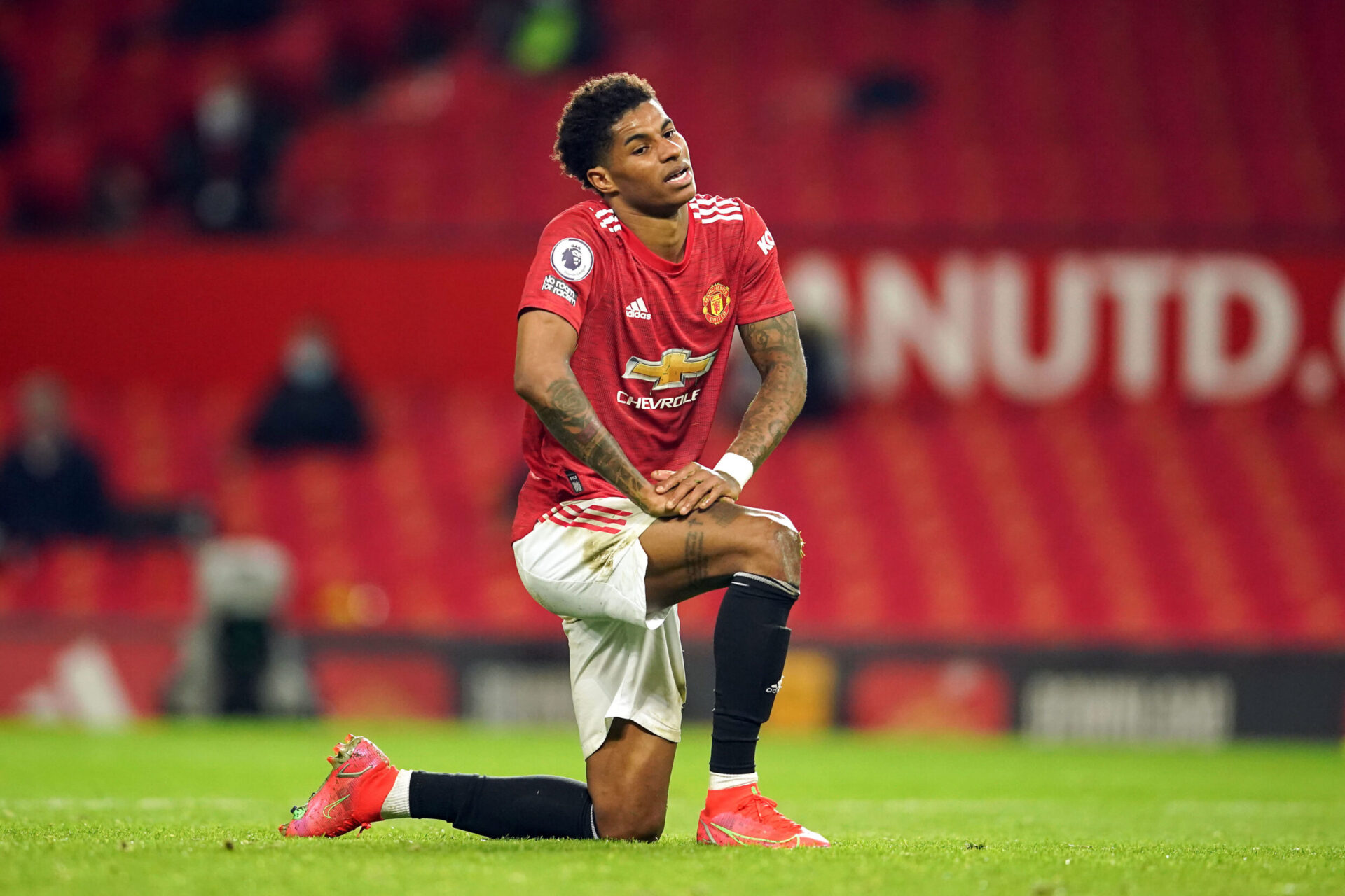 Marcus Rashford portant le maillot de Manchester United (Icon Sport)