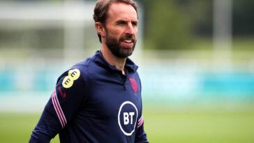 Le sélectionneur de l'Angleterre Garteh Southgate s'est exprimé en conférence de presse avant d'affronter l'Ukraine en quart de finale de l'Euro ce samedi 3 juillet (iconsport)