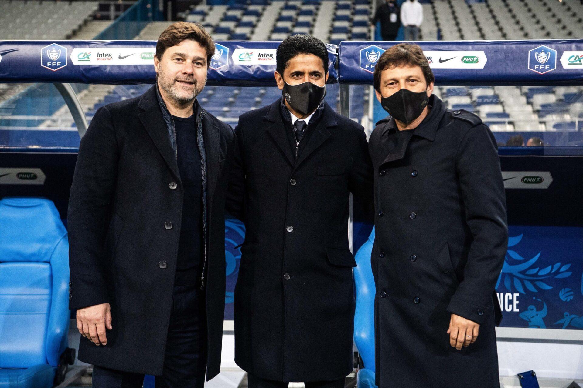 Mauricio Pochettiono a annoncé que le mercato du PSG est préparé depuis 6 mois par lui-même de concert avec Nasser Al-Khelaïfi et Leonardo (iconsport)