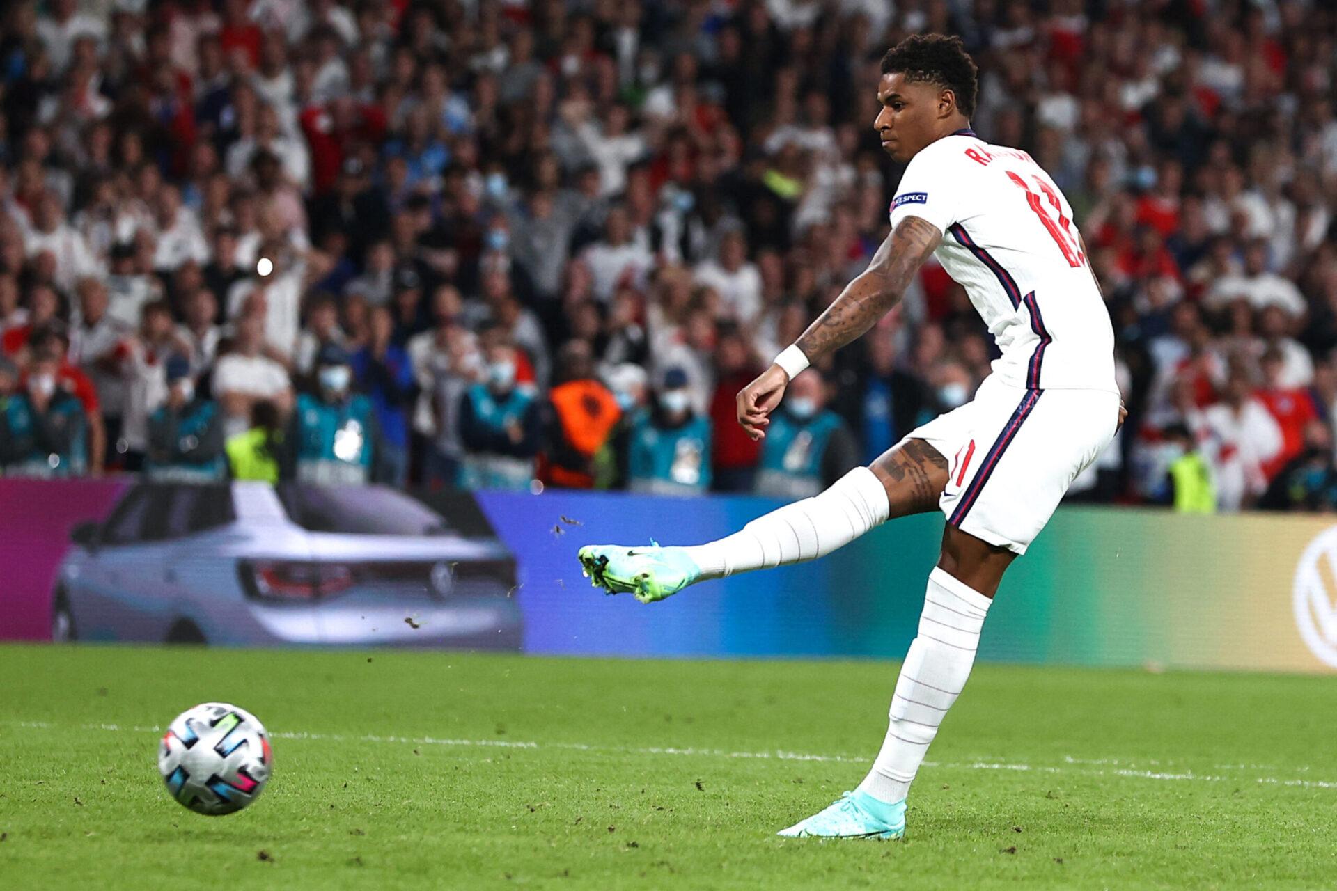 Marcus Rashford a raté son tir au but face à Gianluigi Donnarumma en finale de l'Euro 2020 (iconsport)