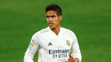 Accord de principe entre le Real Madrid et Manchester United pour le transfert de Raphaël Varane. Icon Sport