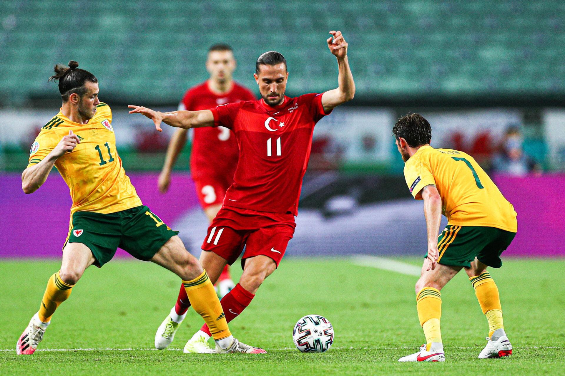 Le match de poule entre le pays de Galles et la Turquie s'est disputé à Bakou, en Azerbaïdjan. Icon Sport