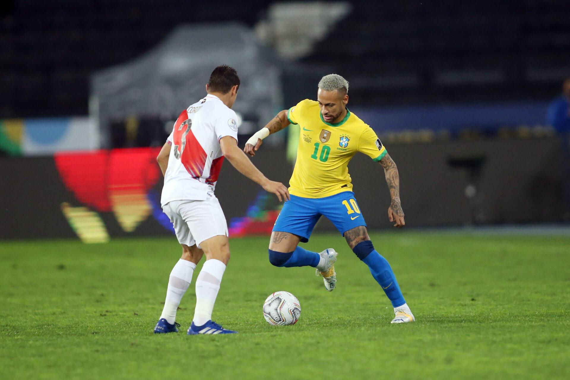 Neymar joue à la Copa America en 2021 (Icon Sport)